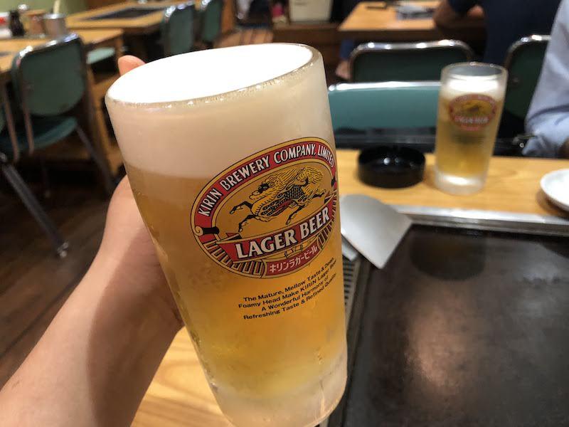 仙川「蓮花亭」生ビール
