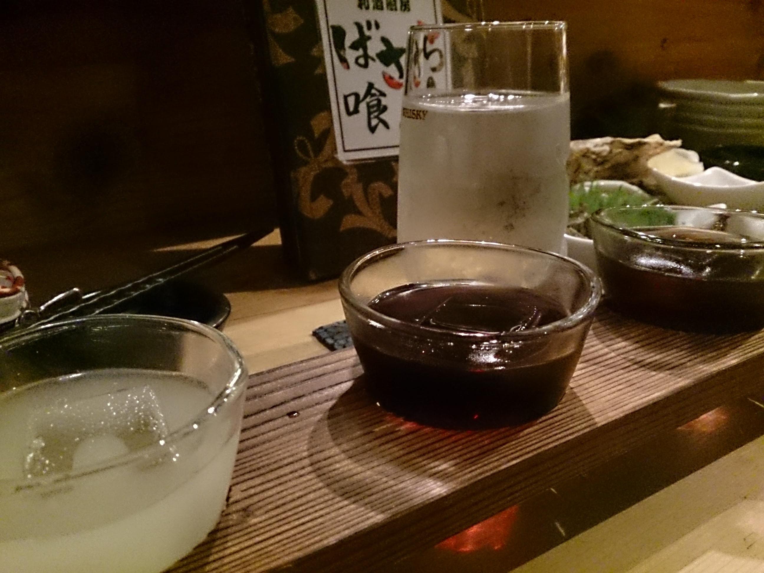 ばさら調布店「梅酒唎酒(3種)」