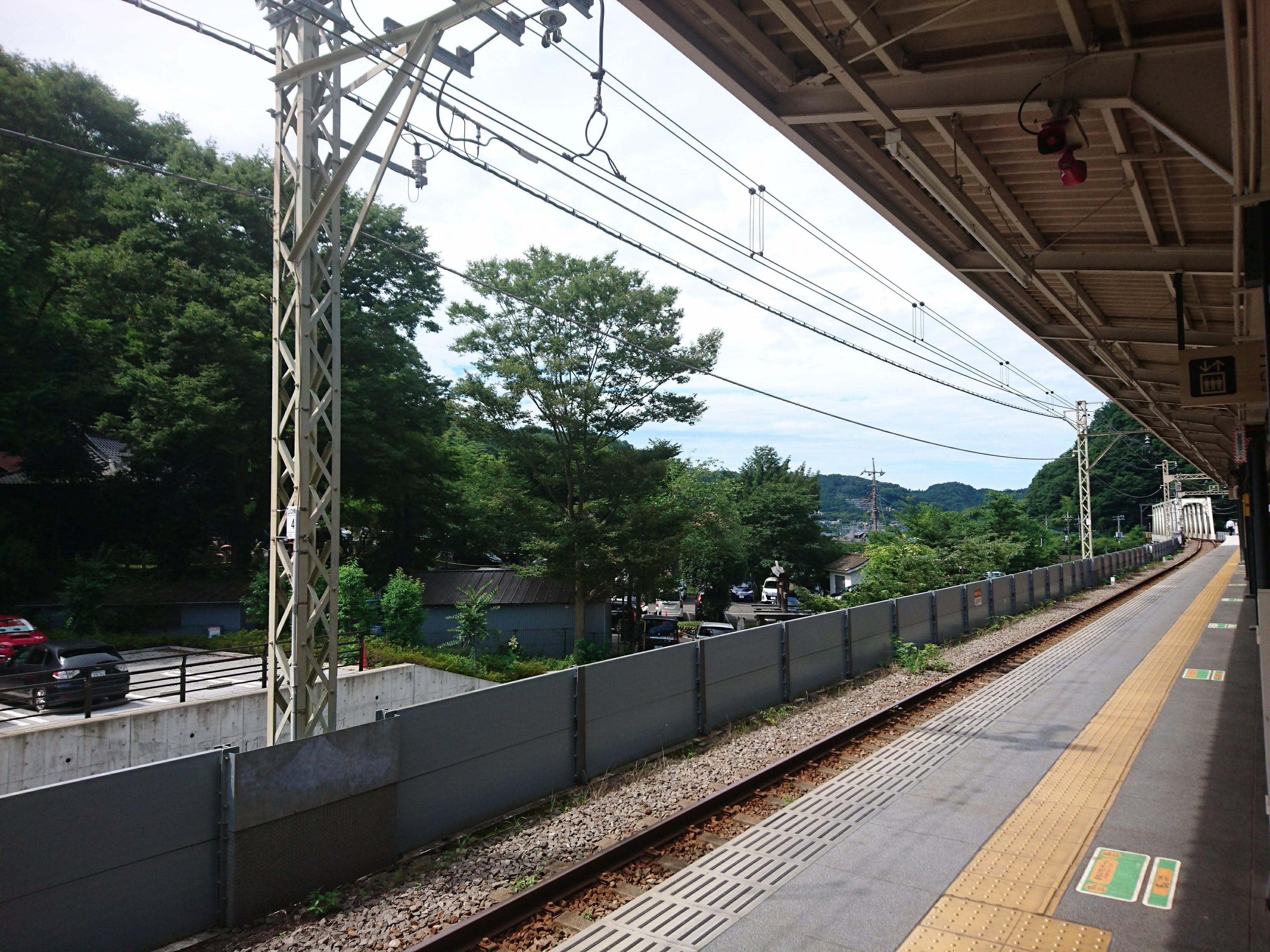京王線「高尾山口」ホームより