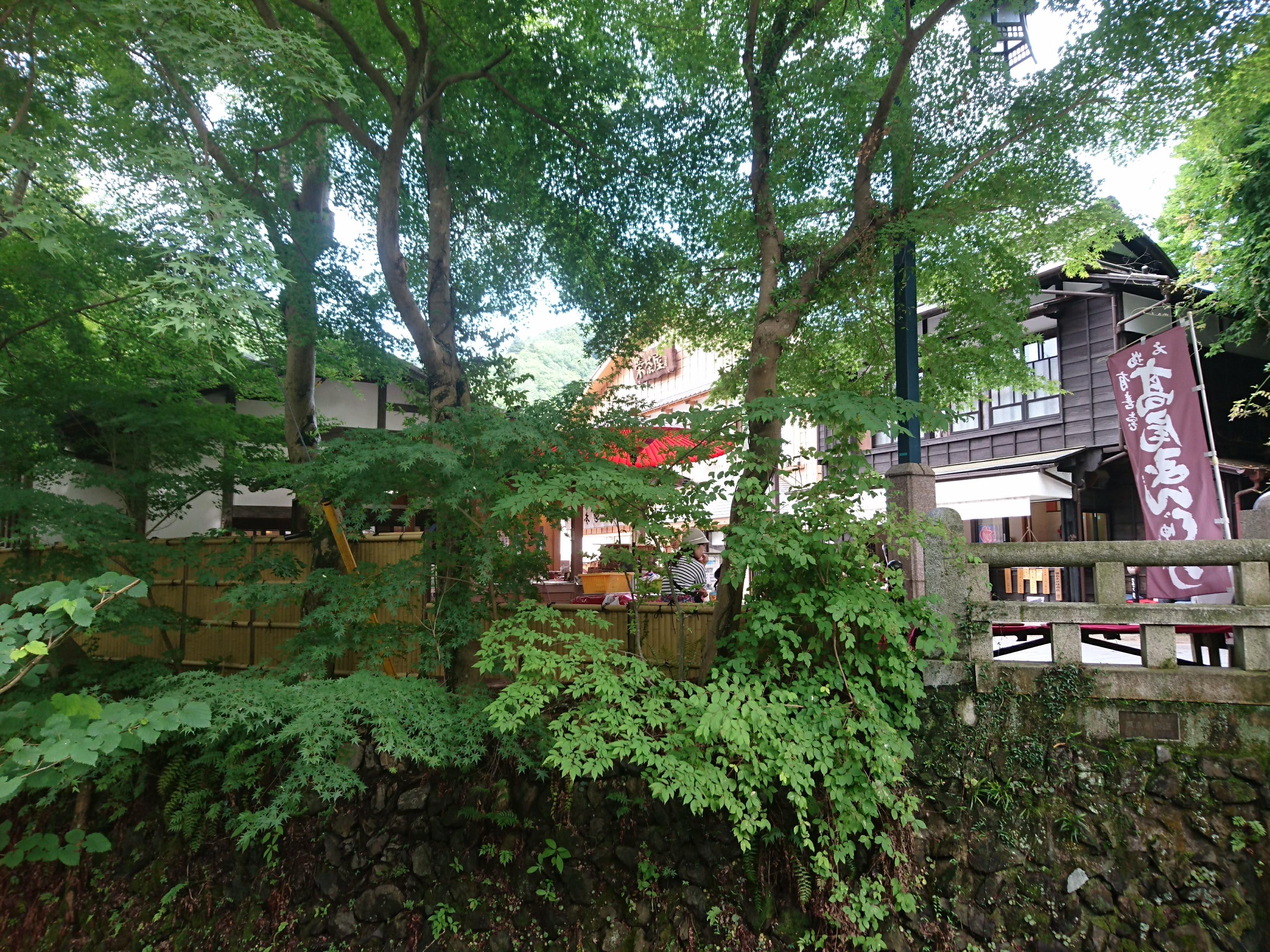 京王線「高尾山口」お土産屋のある景色