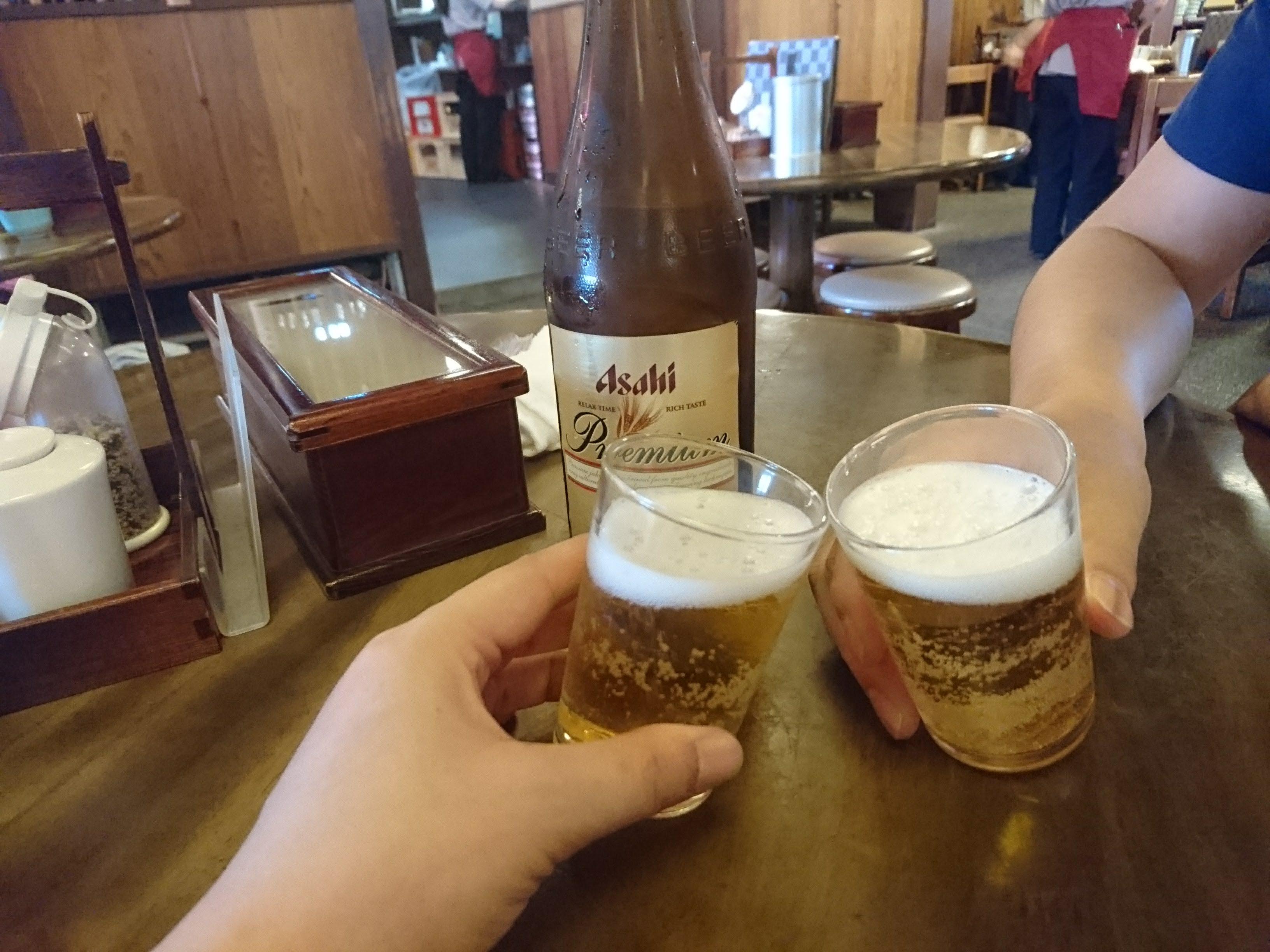 京王線「高尾山口」高橋家でランチビール