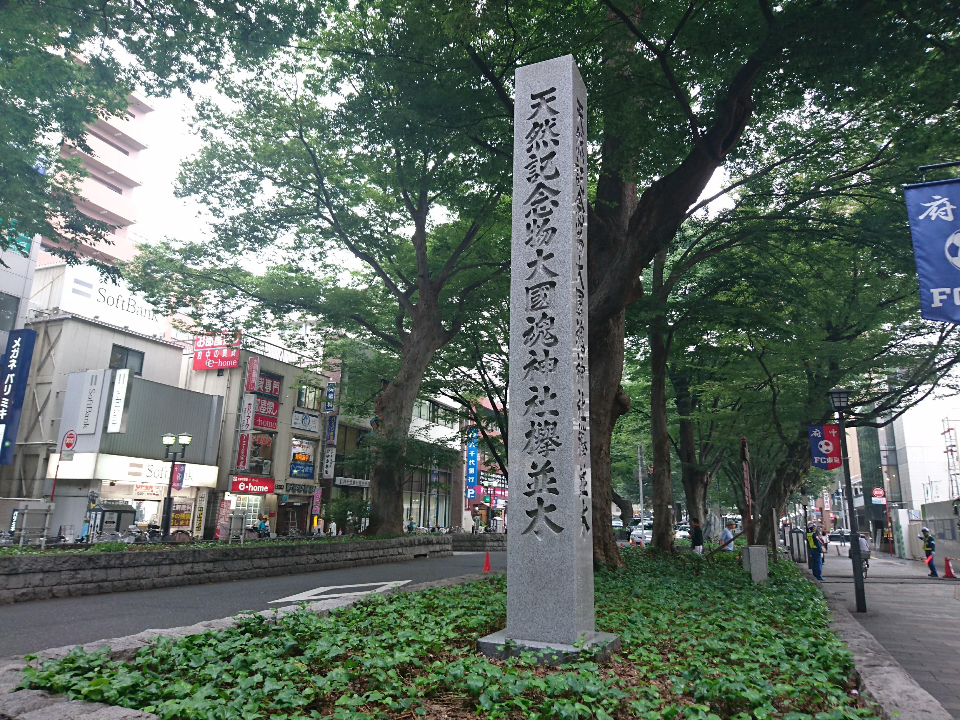 東京都府中市に所在する日本国指定天然記念物の並木