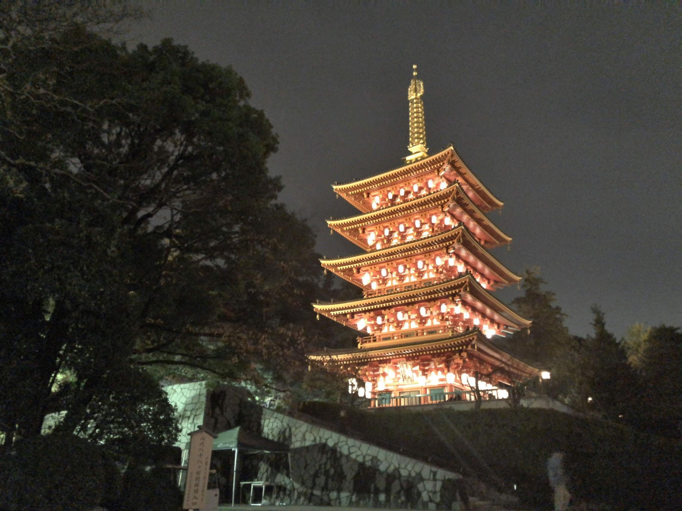 高幡不動尊金剛寺「もみじ祭りライトアップ」