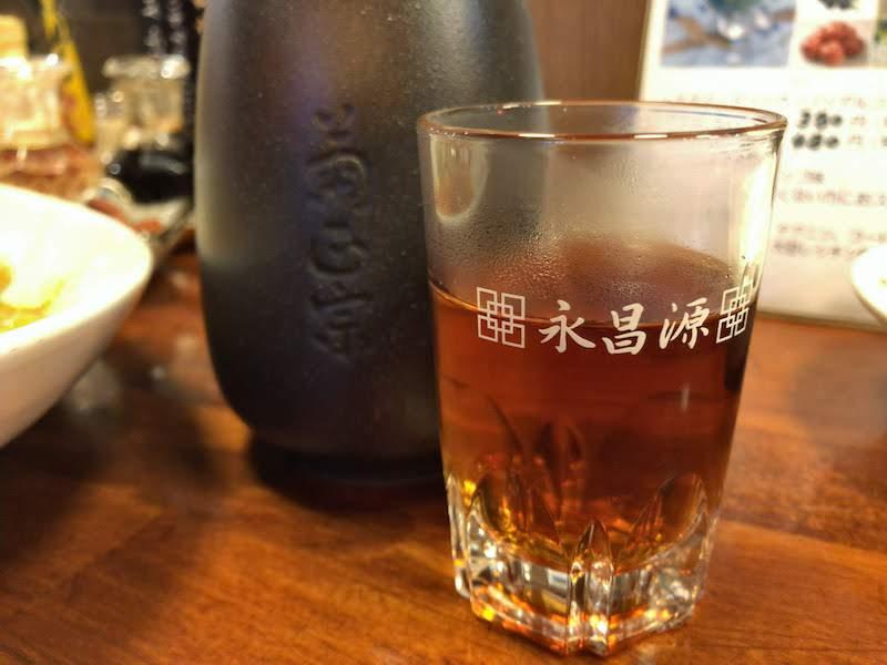 国領「麺飯坊 無双(めんはんぼう むそう)」紹興酒