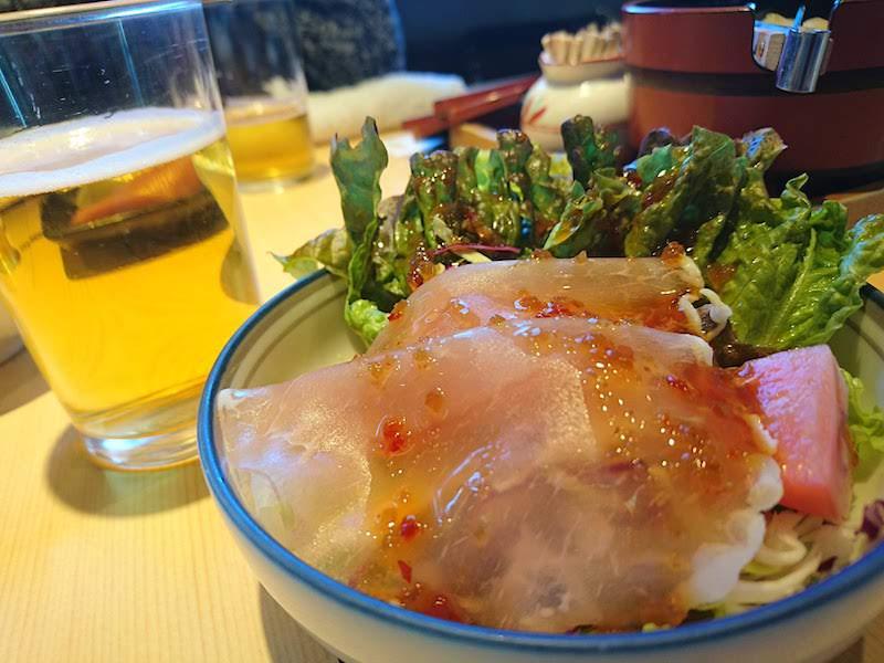 調布寿司祭り「大漁旗」セットサラダ