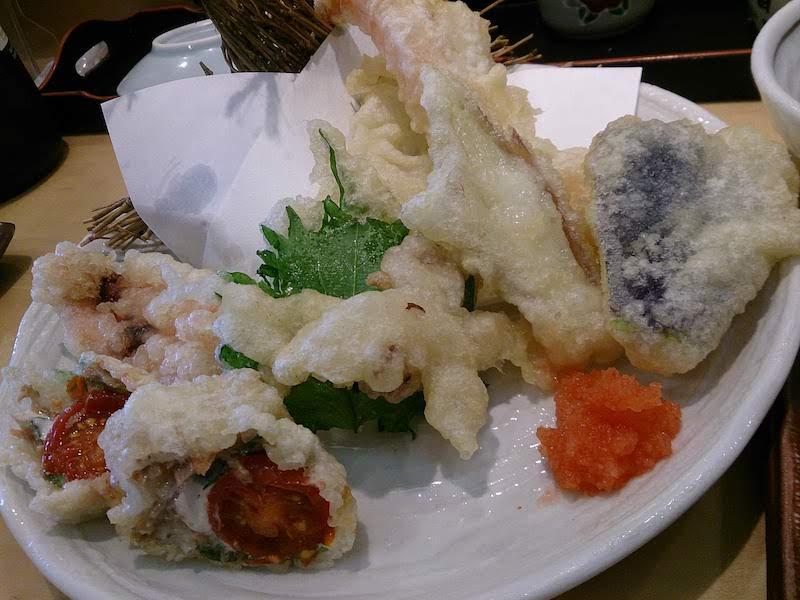 調布寿司祭り「すし三崎丸」季節の天ぷら盛り合わせ(夏)