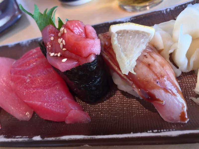 調布寿司祭り「すし三崎丸」本まぐろ祭り5貫盛