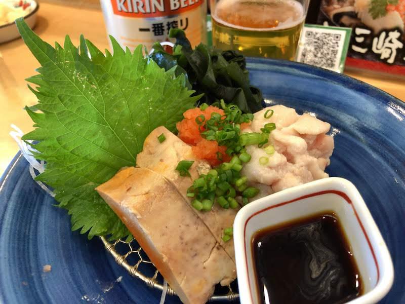 調布寿司祭り「すし三崎丸」あんきも&しらこポン酢盛合せ