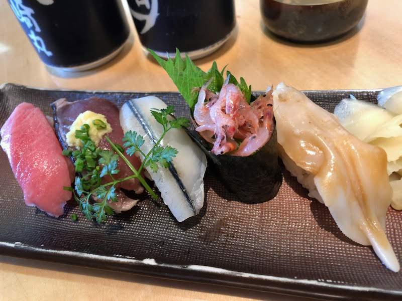 調布寿司祭り「すし三崎丸」季節の5貫盛り(春)