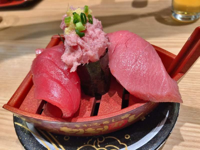 調布寿司祭り「もりもり寿し」まぐろ3点盛り