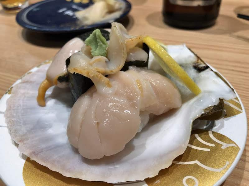 調布寿司祭り「もりもり寿し」本日のおすすめホタテ