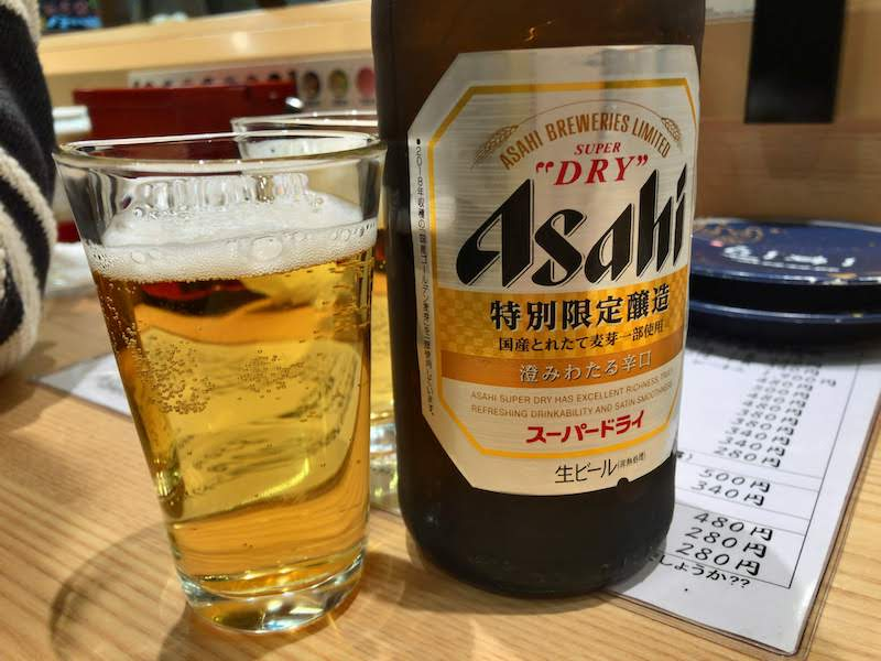 調布寿司祭り「もりもり寿し」瓶ビール