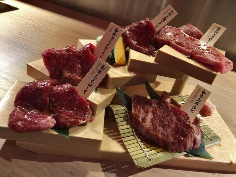 渋谷「金タレ」5種盛り