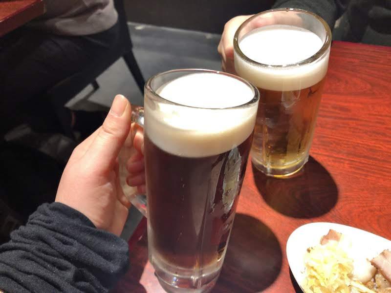 調布「ペコリ」生ビールで乾杯
