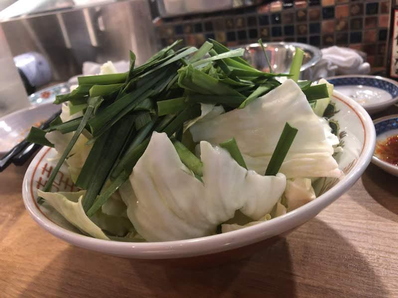 調布「博多劇場」追加の鍋野菜