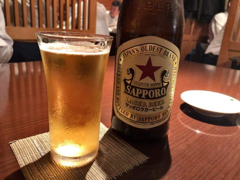 府中「旬楽」乾杯のビール