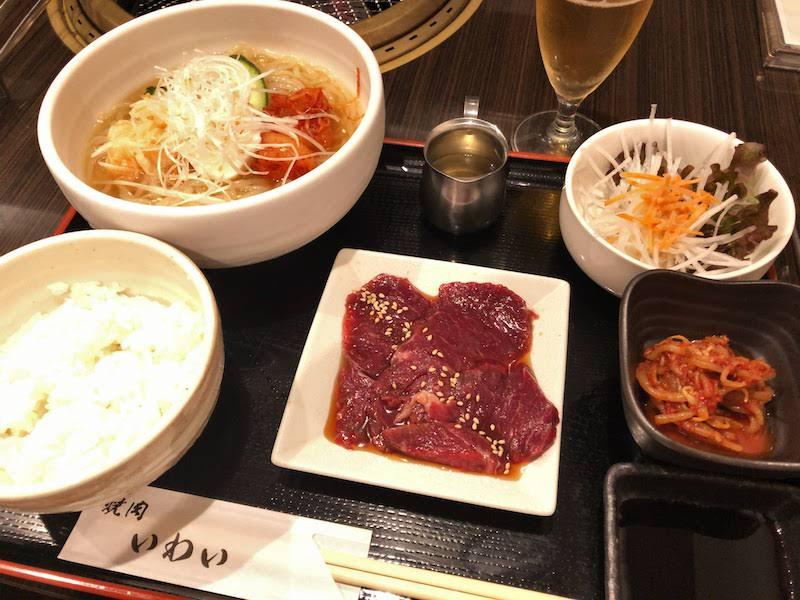 調布「焼肉いわい」盛岡冷麺定食+焼肉ハーフ