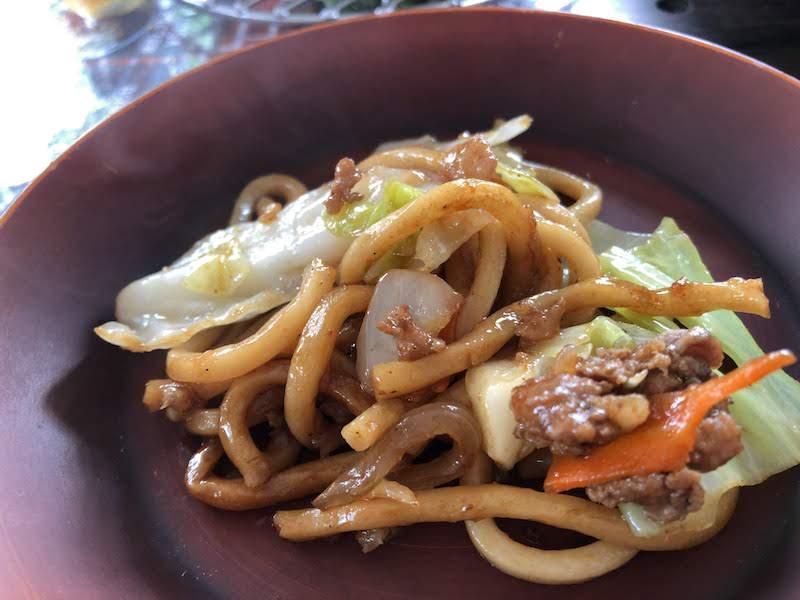 京王多摩川「バーベキュービレッジ」極太ダッチ麺