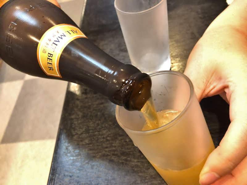 高尾山「栄茶屋」瓶ビール