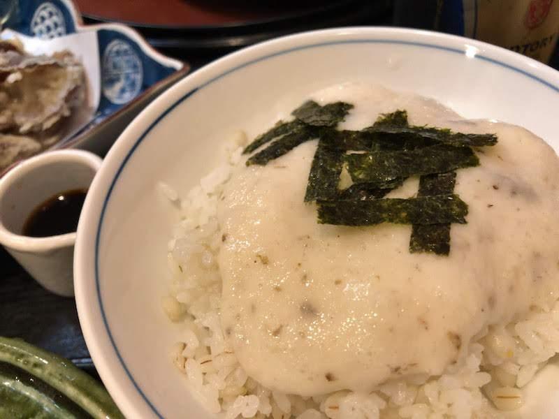 高尾山「栄茶屋」自然薯飯